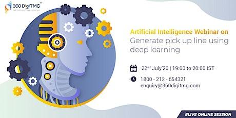 Artificial Intelligence Webinar   Generate pick up line using deep learning tickets