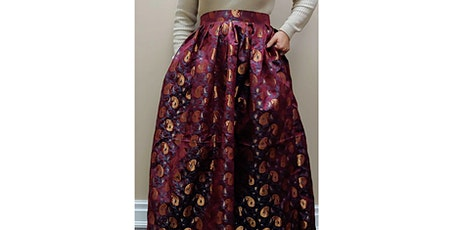 LEARN TO SEW 2 DIFFERENT STYLE MAXI SKIRT WITH ZIPPER( NO-SEWING PATTERN) tickets
