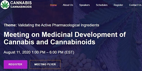 Meeting on Medicinal Development of Cannabis and Cannabinoids tickets
