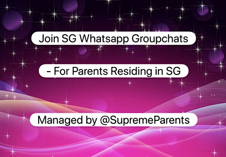 2020- Join SG WhatsApp chats for Parents residing in SG image