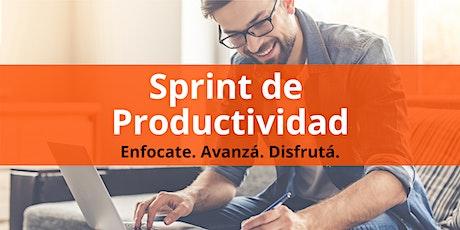 Sprint de Productividad: Enfocate. Avanzá. Disfrutá entradas