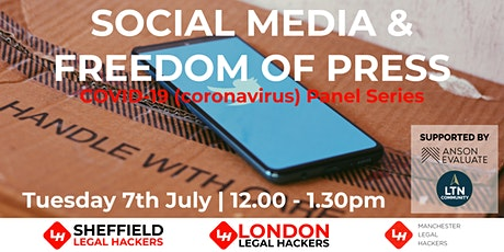 COVID-19 (coronavirus) Panel Series - Social Media & Freedom of Press billets