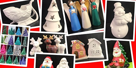 """SPECIAL PRICING  Adult Ceramics Open Paint Session """"Christmas in July"""" tickets"""