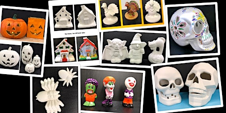 """SPECIAL PRICING Adult Ceramics Open Paint Session """"Halloween in July"""" tickets"""