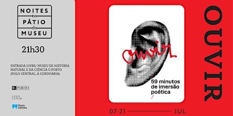 Adolfo Luxúria Canibal: Ouvir. 59 minutos de imersão poética bilhetes