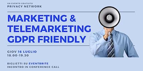 Marketing & Telemarketing GDPR Friendly biglietti