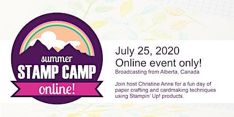 Summer STAMP CAMP Online 2! July 25 tickets