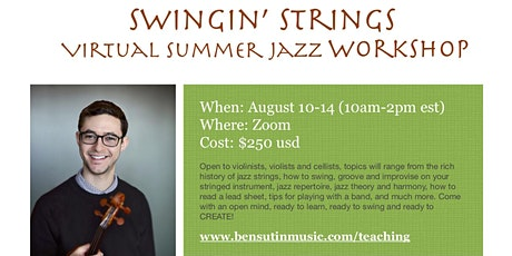 Swingin' Strings - Virtual Summer Jazz Workshop tickets