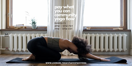 Pay What You Can Community Yoga tickets