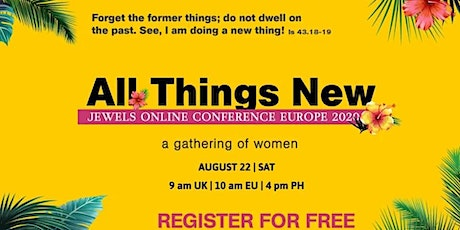 EUROPE JEWELS ONLINE CONFERENCE 2020: ALL THINGS NEW tickets
