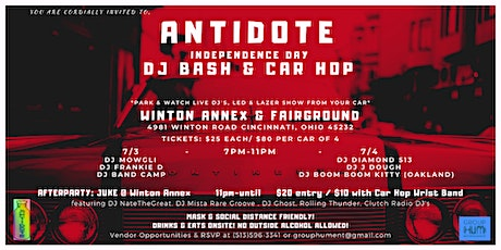ANTIDOTE: Independence Day DJ Bash & Car Hop tickets