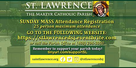SUNDAY, July 5 @ 8:00 AM Mass Registration tickets