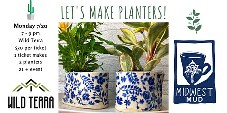 Let's Make Planters at Wild Terra • July 20th! tickets