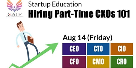 Hiring Part-time CXO 101 tickets