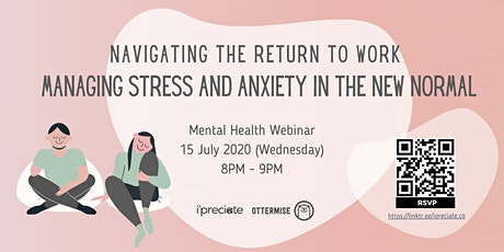 Mental Health Webinar - Dealing With Back To Work Anxiety tickets