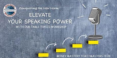Online Public Speaking Extravaganza - Elevate Your Speaking Power tickets