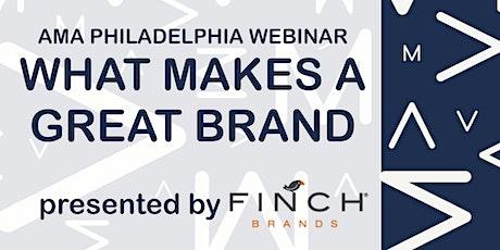 AMA Philadelphia Webinar: What Makes A Great Brand tickets