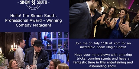 Zoom Magic Show with Simon South, 'Cheshire's Best Close Up Magician' tickets