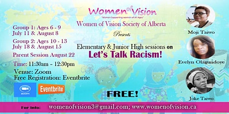 Let's Talk Racism - Elementary School  and Junior High Children and Parents billets