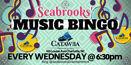 SEABROOKS' MUSIC BINGO!GREAT MUSIC,DOPE PRIZES,CATAWBA BREWING WED @6:30 tickets