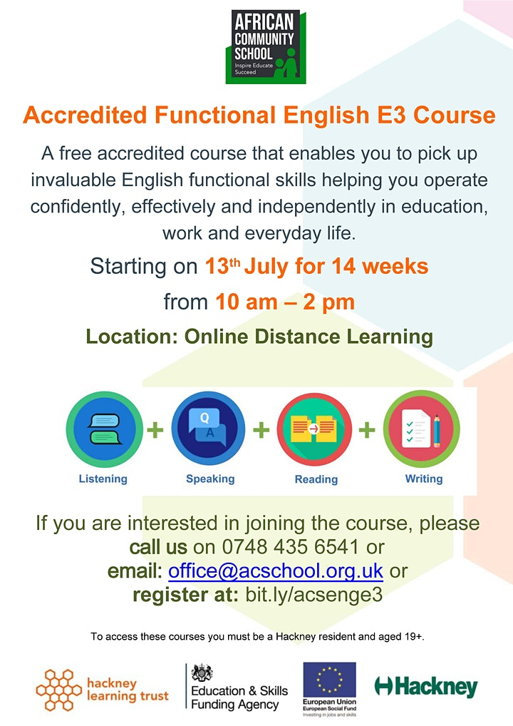 Accredited Functional Skills English E3 ( FREE Online Course) image