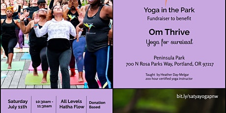 Yoga in the Park Fundraiser for Om Thrive tickets