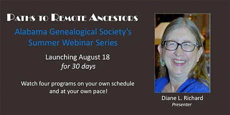 Paths to Remote Ancestors: AGS Summer Webinar Series Launch (Members) tickets