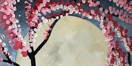 Virtual Paint & Wine - Moonlight & Blossoms tickets