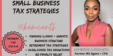 Small Business Tax Strategies to Save! tickets