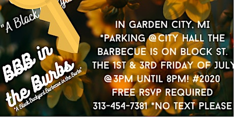 BBB in the Burbs (Black Backyard Barbecue in the Burbs) Bi-weekly Barbecue tickets