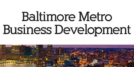 Baltimore Metro Business Development (BMBD) August 2020 tickets