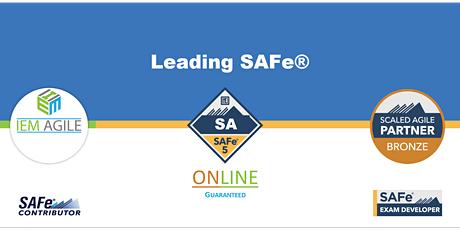 Leading SAFe (SA) - Online Instructor led tickets