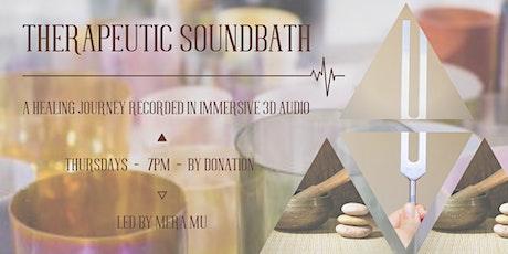 THERAPEUTIC SOUNDBATH in 3D AUDIO tickets