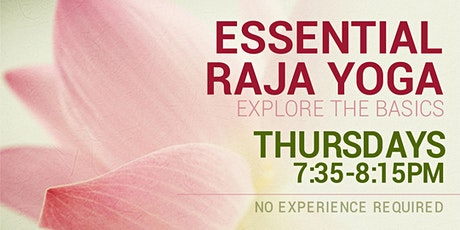 Essential Raja Yoga in English (Online) tickets