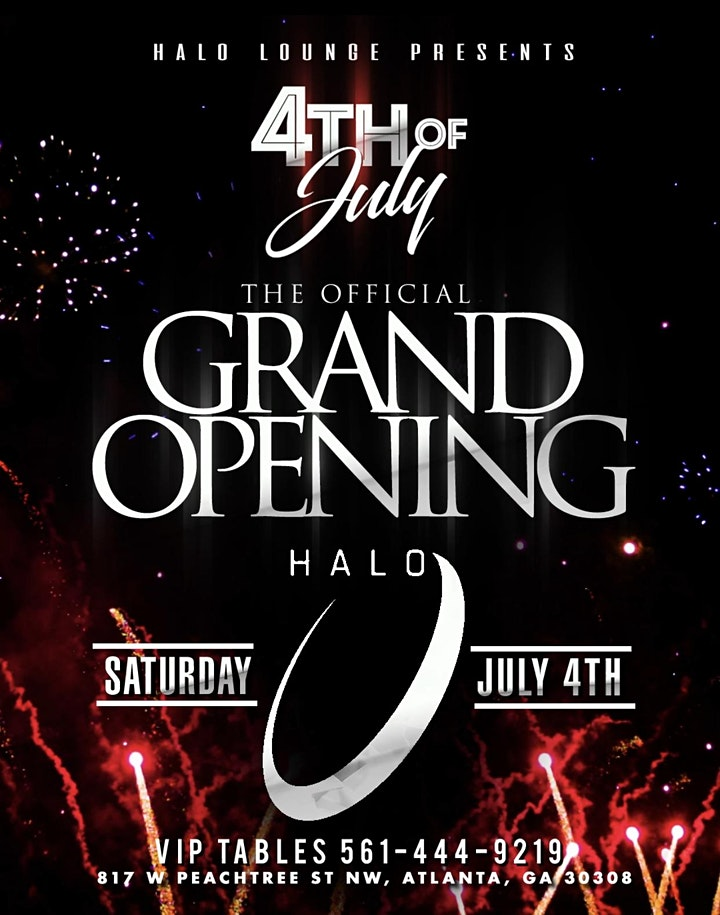 HALO LOUNGE GRAND OPENING 4TH OF JULY PARTY image