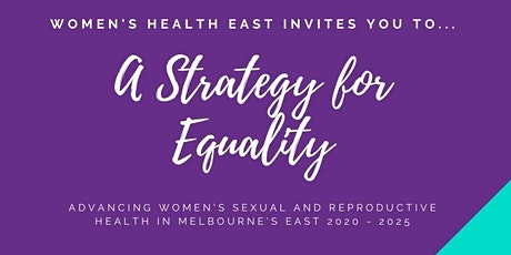 A Strategy for Equality: Sexual and Reproductive Health Launch tickets