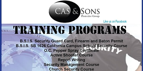$60 BSIS CA  GUARD CARD TRAINING tickets