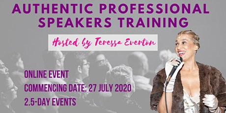 Authentic Professional Speakers Training tickets