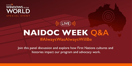 World Vision NAIDOC Week Live Q&A tickets