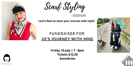 Scarf Styling Webinar for Jo's Journey with MND tickets