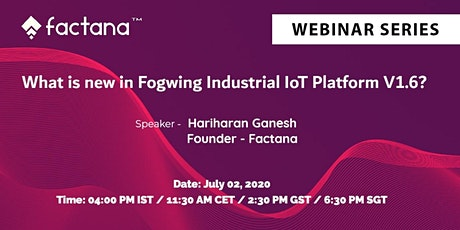 What is new in Fogwing Industrial IoT Platform V1.6 tickets