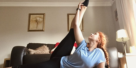 """""""Breathe In & Stretch It Out"""" - ONLINE STRETCH AND RELAXATION CLASS tickets"""