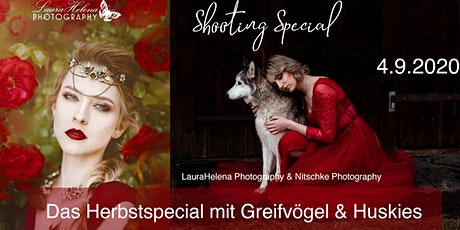 "Shooting Special ""Herbstspecial mit Greifvögel & Huskies"" Tickets"