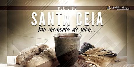 Culto de Santa Ceia -2 billets