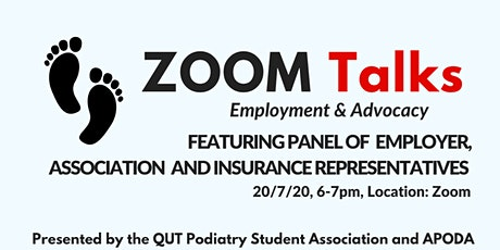 Zoom Talks: Employment and Advocacy tickets