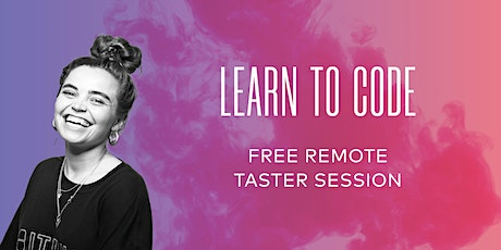 Free Online Coding Taster  Session with _nology - 19/08/20 tickets