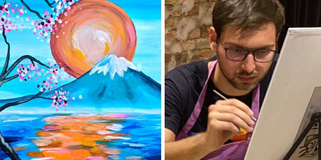Paint Mount Fuji - Acrylic Sip & Paint Class for Beginners (BYO) tickets