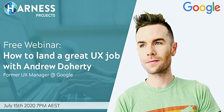 How to land a great UX job with Andrew Doherty biglietti