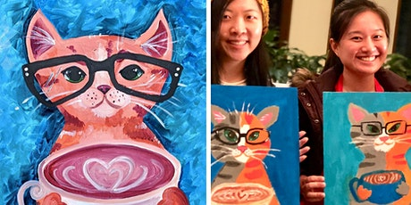 Coffee Cool Cat - Paint & Sip Class (BYO Fun Session) tickets
