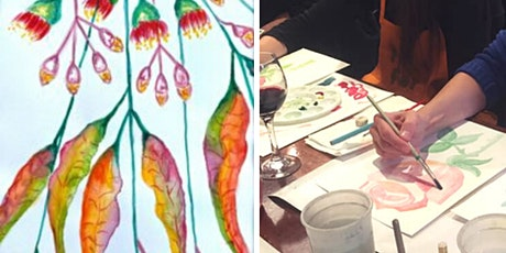 Watercolour Paint & Sip Class: Eucalyptus Leaves (BYO) tickets